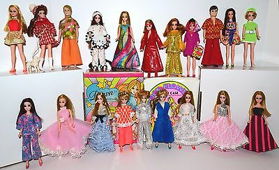 Vintage Topper Dawn & Her Friends Doll Lot 20 Dolls 2 Cases Boots Shoes! Lot #7