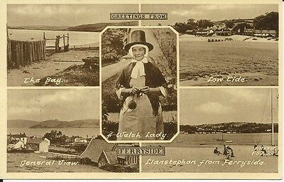 Multi-view postcard of Ferryside, Carmarthenshire