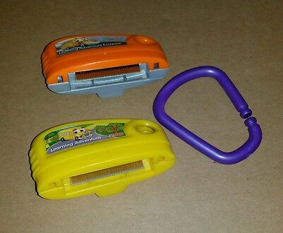 2 Fisher Price Smart Cycle Games Learning Adventure & Extreme Rumble W/ Clip
