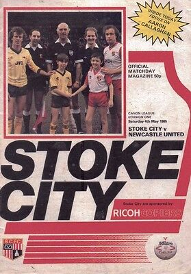 Stoke City v Newcastle United Official Programme - 4th May 1985