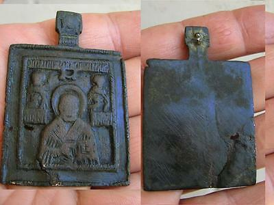 Late Medieval  Period  Bronze Icon - Saint Nicholas   #4409