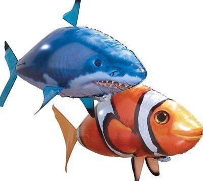 Radio Remote Control Clone Flying Shark Nemo Fish RC Inflatable Balloon