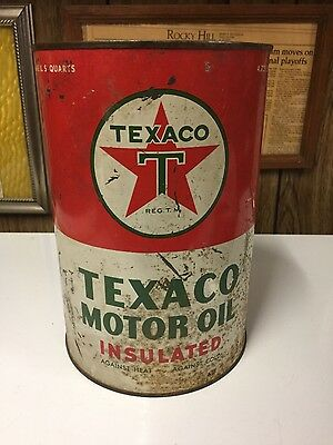 Vintage 5 qt. Texaco Motor oil Can