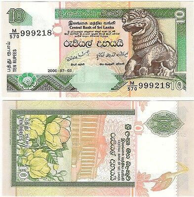 Sri Lanka 10 Rupees 2006 P-115e GEM NEW UNC Uncirculated Banknote