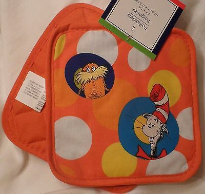 Dr. Seuss Potholder Set Lorax Horton Cat In The Hat Red Fish