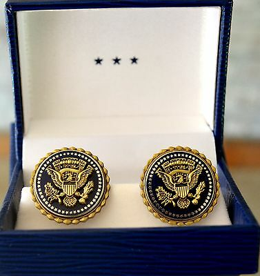 White House Presidential Service Badge Cufflinks~Military Office~Whmo~Gift Boxed
