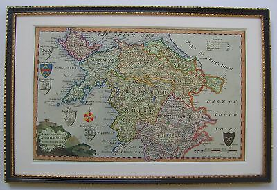 North Wales: antique map by G.Walpoole, 1784