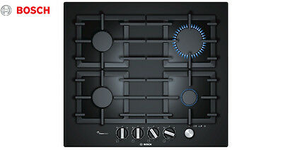 BOSCH PPP 616M91E  Built-in Black Glass Kitchen Gas Hob Brand New !!!