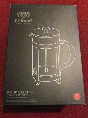 Whittard Of Chelsea Brand New Boxed Cafetiere 8 Cup Stainless Steel
