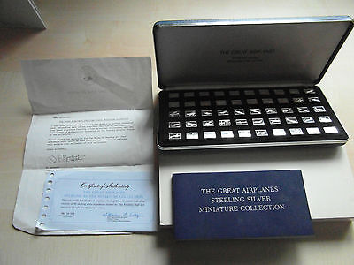 Franklin mint the great airplanes sterling silver miniature collection excellent