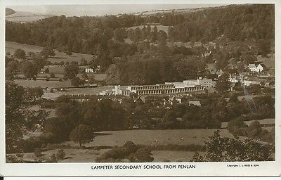 RP postcard of Lampeter Secondary School, from Penlan, Cardiganshire