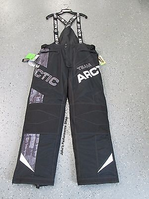 Mens Team Arctic Cat Black Snowmobile Bibs 2XL  5270-238