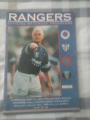 Rangers v Anorthosis Famagusta European Cup 1995