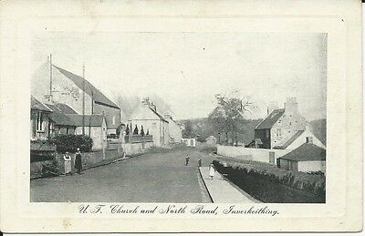 Vintage postcard of Inverkeithing, United Free Church and North Road, Fife