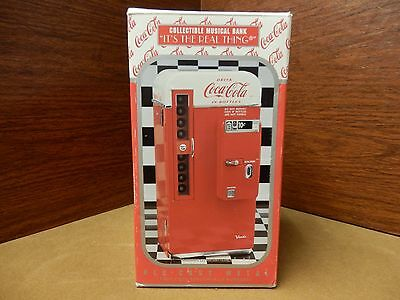 """New Coca-Cola Collectible Musical Bank """"Its the Real Thing"""""""