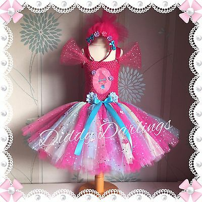 Princess Poppy Tutu Dress Trolls Costume Troll Dress Any Character Or Colour