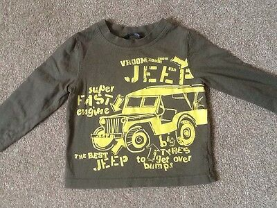 Baby Boy Jeep Long Sleeve Top By George Age 9-12 Months