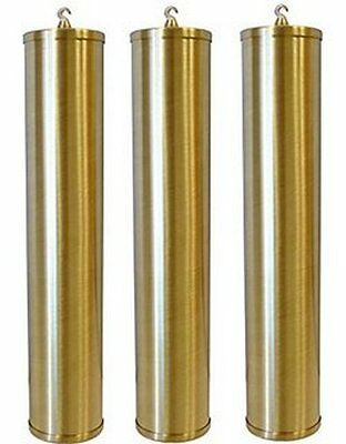 Grandfather Clock Weight Shells Set of 3 Brushed Brass Howard Miller 60 x 245 mm
