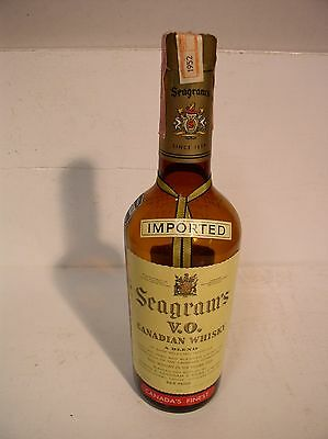 Seagrams Canadian Whiskey Bottle 1952 Rhode Island Tax Stamp