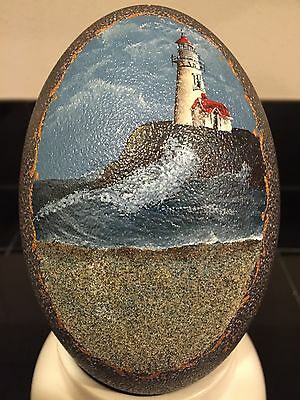 Fine Hand Painted Ostrich Egg