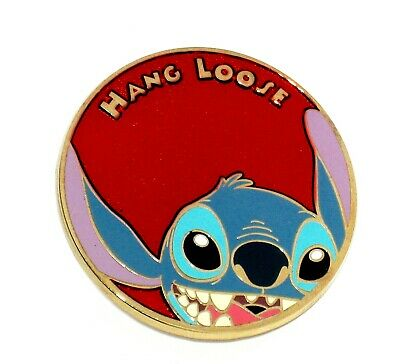 LE 250 RARE Disney Pin✿Mystery Button Collection Stitch Hang Loose Hawaii Face