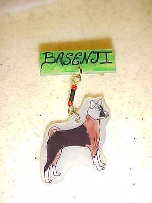 BASENJI PIN - Handmade Unique Dog Jewelry - New - DOGS