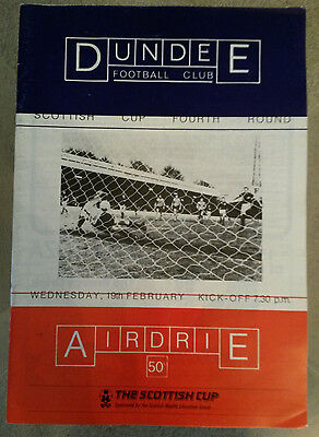 Dundee v Airdrie - Scottish Cup Fourth Round 1985 - 1986