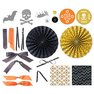 Stampin' Up! Halloween Banner Simply Created Accessory Kit Wreath Skull Spider