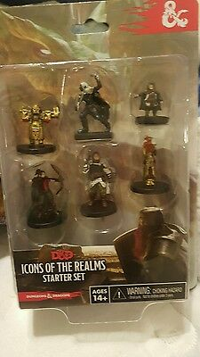 D&D Icons of the Realms: Tyranny of Dragons Starter set 6 miniatures drizzt nib