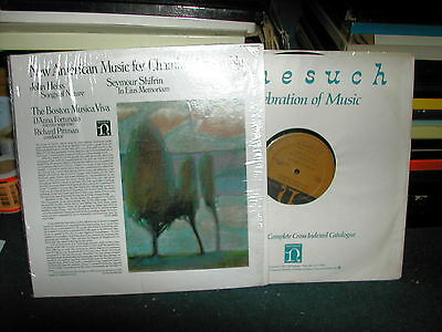 H 71351 New american music for chamber ensemble Pittman LP 1978 nonesuch