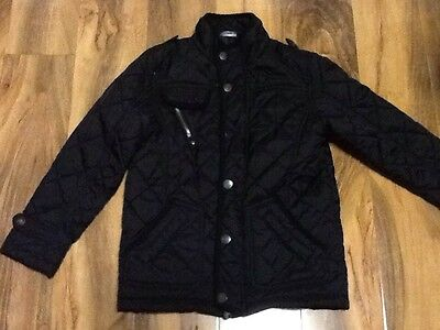 Black Quilted Girls School Jacket Aged 7-8 Years Old (122-128cm)