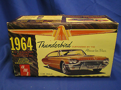 1964 Thunderbird Convertible by AMT built factory stock with box Kit # 6214