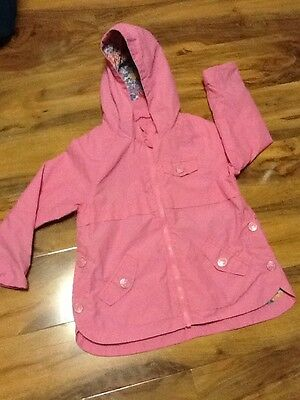 Next Girls Mac/Rain Coat Aged 4-5 Years  Old (110 Cm)