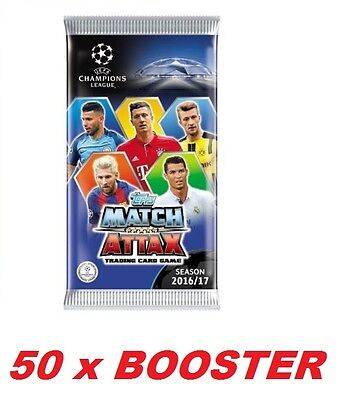 Booster Topps Champions League 2016 2017 Set of 50 BOOSTER (300 Cards)
