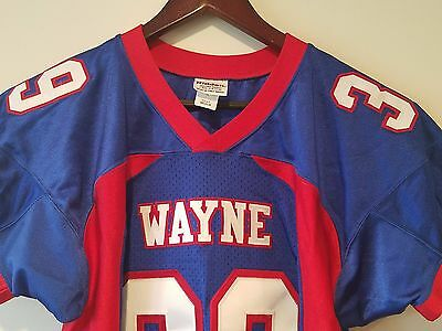 Wayne Football Jersey Riddell Sz M Southern High School Prep Red White Blue # 39