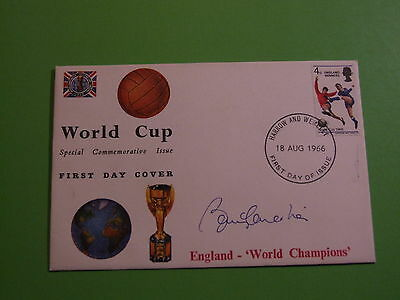 1966 World Cup Fdc Cover Signed By Bobby Charlton Harrow And Wembly Cancel18 8 6
