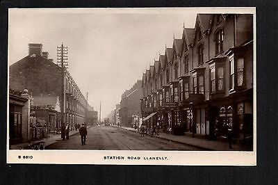 Llanelly - Station Road - real photographic postcard