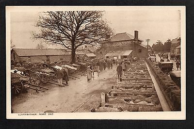 Llanybyther Mart Day - printed postcard