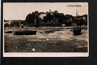 Laugharne - Costal Scene - real photographic postcard