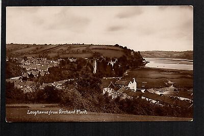 Laugharne from Orchard Park - real photographic postcard