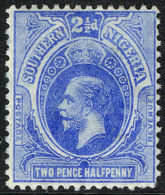 Sg 48 S.nigeria 1912 - Twopencehalfpenny Bright Blue - Mounted Mint