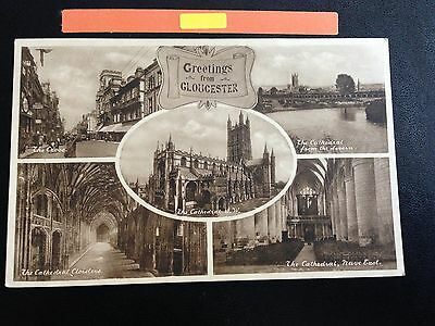 Greeting From Gloucester Multiple Views Postcard 1934