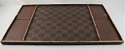 Late 19Th Century- Early 20Th Century Red Game Board In Original Paint