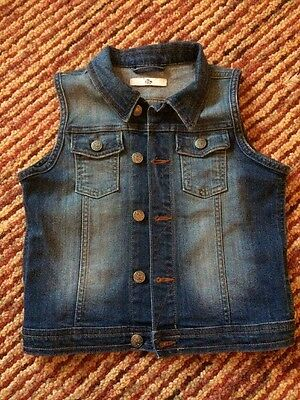 Girls Denim Sleeveless Jacket By Marks And Spencer Age 9-10