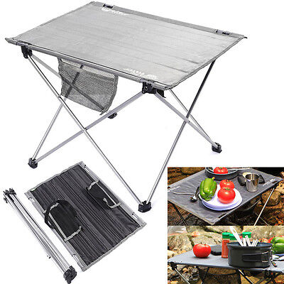 Aluminium Alloy Mini Folding Camping Table Picnic Lightweight Compact  Desk