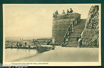 PEACEHAVEN,THE BASTION & BATHING POOL, vintage postcard