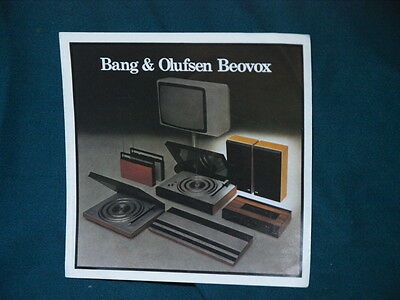 Bang & Olufsen beovox brochure catalogue s22 s30 p30 s45 p45 s60 m70