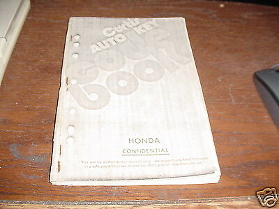 Locksmith book 1976 Curtis Code Auto Key HONDAs Vintage manual