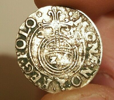 RARE MEDIEVAL SILVER HAMMERED COIN- GREAT DETAILS - Date 1622