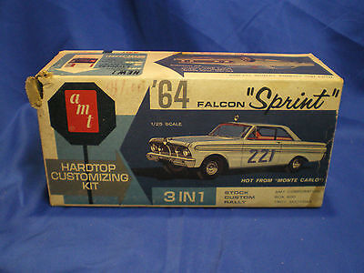 1964 Falcon Sprint Hard Top by AMT built factory stock with box Kit # 5124